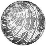 24. M.C. Escher. Sphere Surface with Fish. 1958