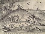 Hyeronymus Cock a partir de Pieter Bruegel. Big fish eat little fish.1556