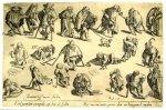 A partir de Hieronymus Bosch. Beggars. 1599