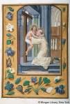 Fig 01. São Bernardo abraçado por Cristo. Da Costa Hours, Bruges, 1510.1520
