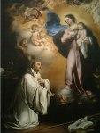 Fig 09. Esteban Murillo. Aparición de la Virgen a San Bernardo. 1655