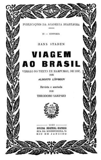 Hans Staden - Viagem ao Brasil (1930)