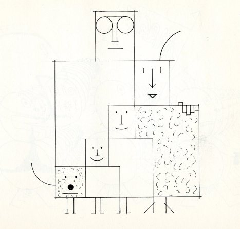 Saul Steinberg.The Family, in The Labyrinth, Harper & Brothers, NY, 1960