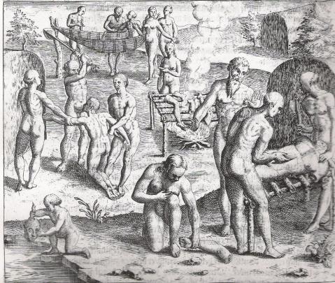 Theodore de Bry. Dritte Buch Americae. A partir de Hans Staden, Frankfurt.M., 1593