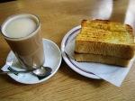 café galão portugues com torrada
