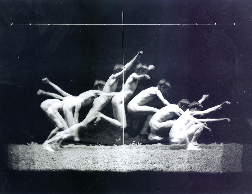 02. Eadweard Muybridge. Study of human's movements. 1870 ca.