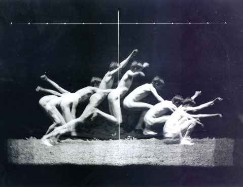 02. Eadweard Muybridge. Study of human's movements. 1870 ca.