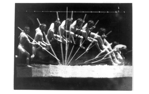 08. Eadweard Muybridge. Pole vaulter. 1887