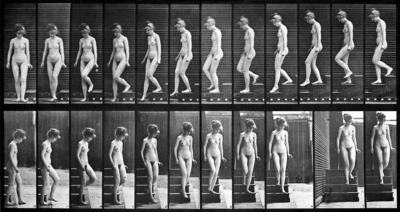11. Eadweard Muybridge. Mulher descendo as escadas. 1887.