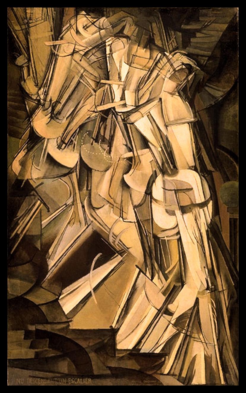 13. Marcel duchamp, Nu Descendant un Escalier. Première version. 1911