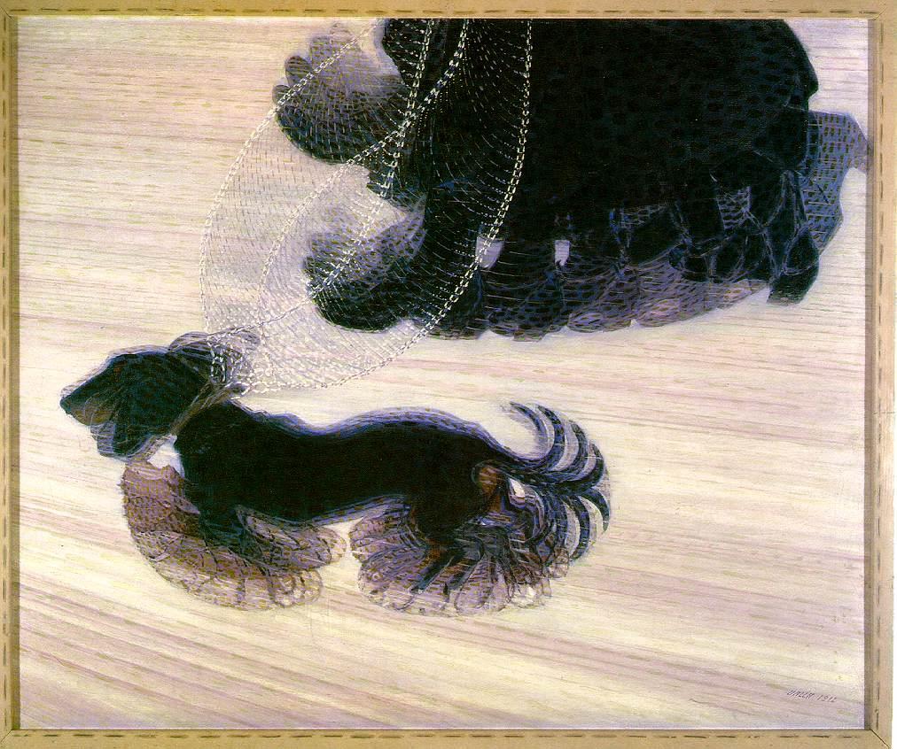 14. Giacomo Balla. Dynamism of a Dog on a Leash. 1912