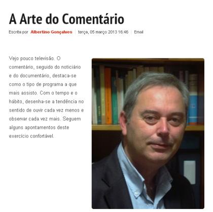 A Arte de Comentar. ComUm Online, 5 Março 2013