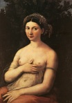 16. Raphael Sanzio. Portrait Of Nude Lady. 1519
