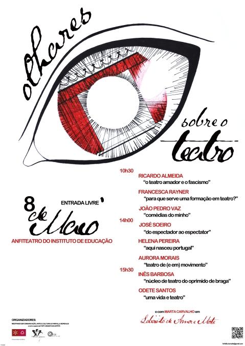 Cartaz - Simpósio 'Olhares sobre o Teatro'