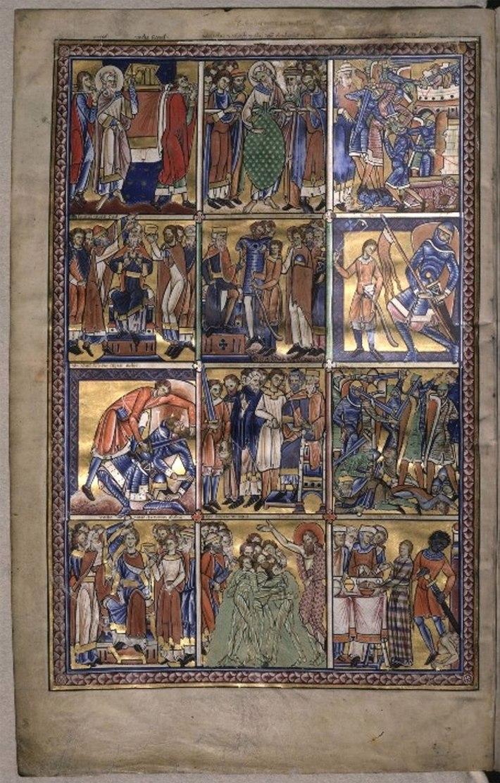 Figura 3. Livro de Salmos de Canterbury, Inglaterra, 1155-1160
