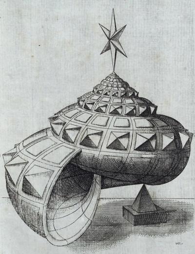 Hans Lencker. Schneckenhaus. Perspectiva Literaria (1567)