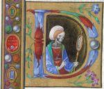 Livro de Horas de Dionara de Urbino. Itália, c. 1480. Pormenor