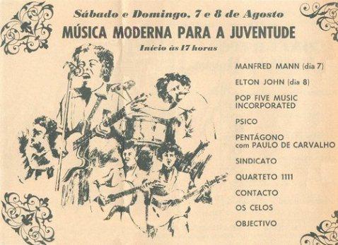 Festival de Vilar de Mouros. 7 e 8 de Agosto de 1971