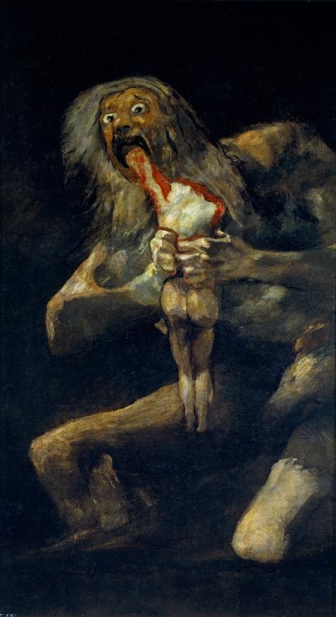 Francisco de Goya. Saturno devorando a su hijo (1819-1823)