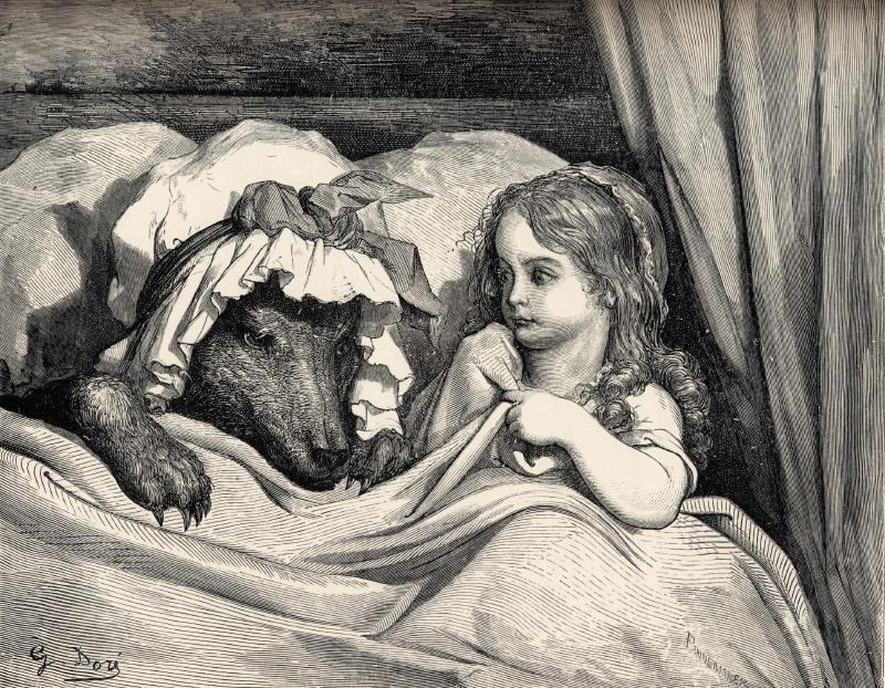 Gustave Doré. Le Petit Chaperon Rouge