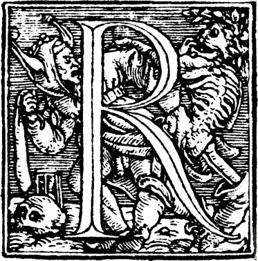 Figura 3. Hans Holbein, Dance of Death Alphabet, 1523