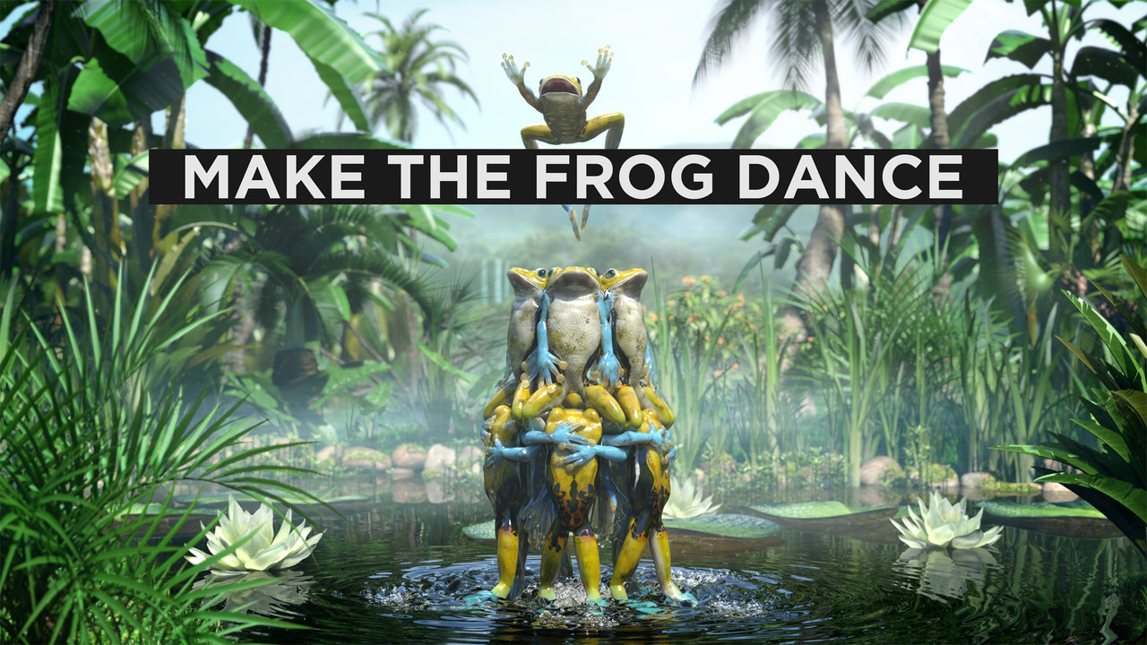 Make the frog dance