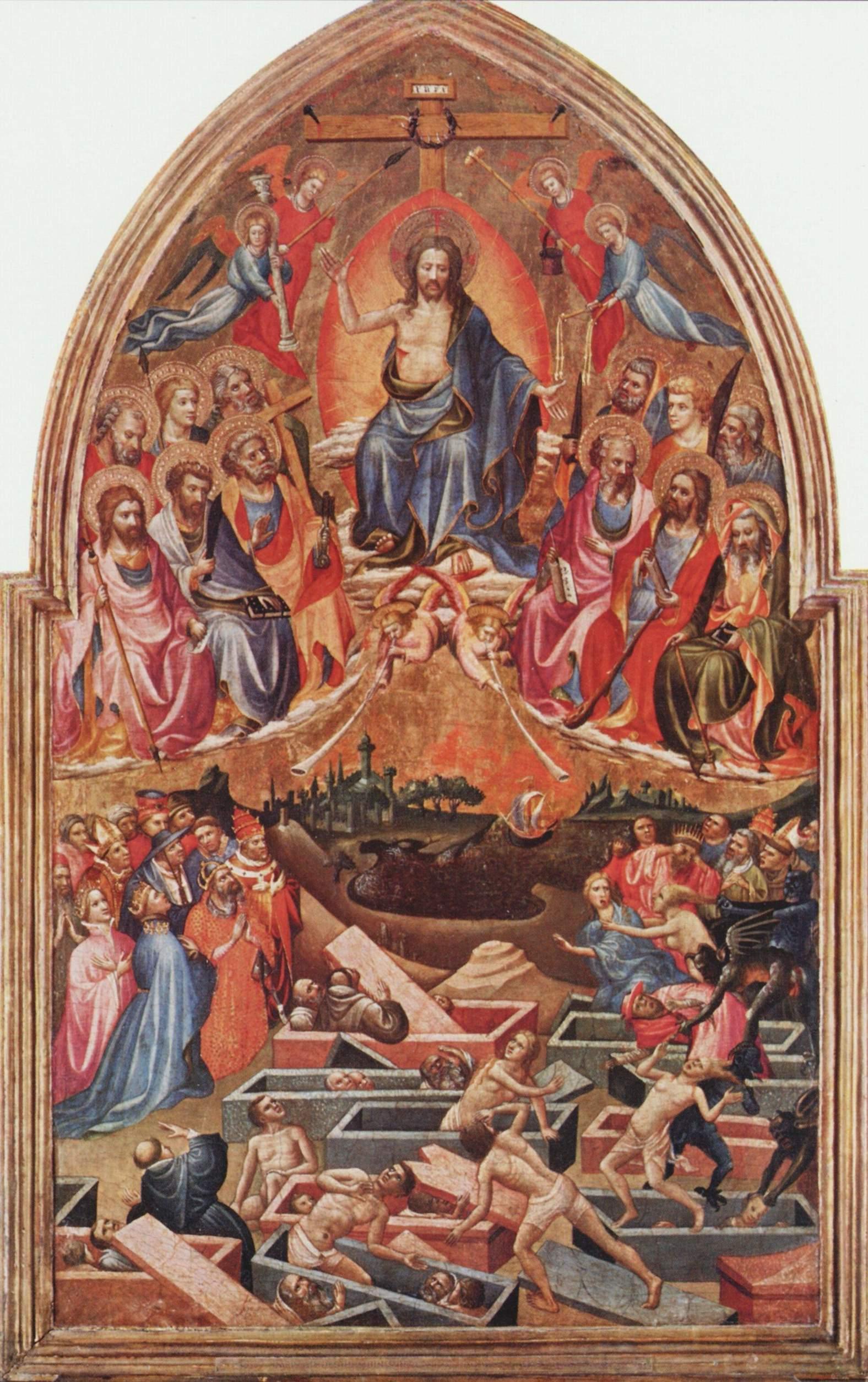 Mestre do Bambino Vispo, Juízo Final, c.1422.