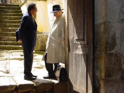 Michel Maffesoli e Muniz Sodré. Seminário O Trágico e o Grotesco no Mundo Contemporâneo. Tibães, 2005,