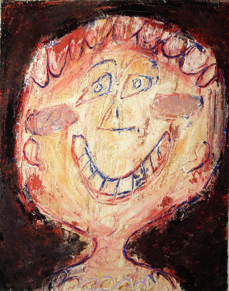 Jean Dubuffet. Smiling Face (La Bouche en croissant), 1948