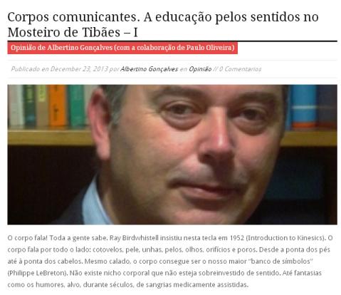 Albertino Gonçalves e Paulo Oliveira. Corpos Comunicantes I. ComUM Online.