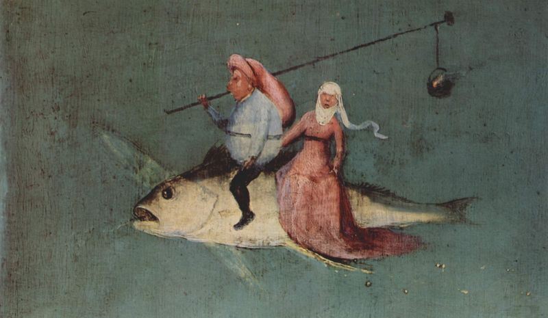 Hieronymus Bosch. As Tentações de Sto Antão.  Pormenor. 1495-1500. Lisboa.