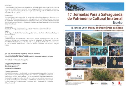 1.as Jornadas para a Salvaguarda do Património Cultural Imaterial da Região Norte
