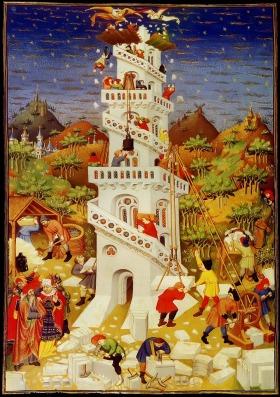 Torre de Babel. Bedford Master Book oh Hours. 1423.