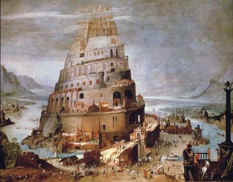 Hendrik III Van Cleve. Torre de Babel. 1563