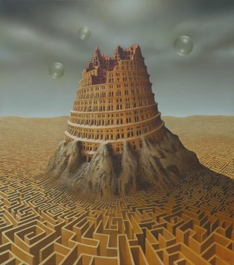Andreas Zielenkiewicz. Torre de Babel. Contemporâneo.