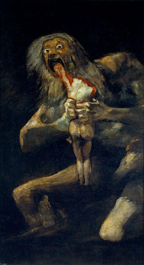 Francisco de Goya, Saturno devorando seu filho (1819-1823).