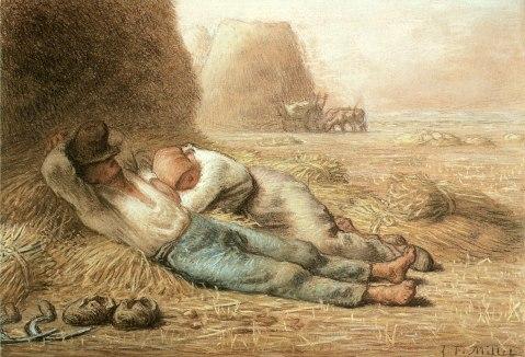 Jean-François Millet. Descanso ao meio dia. 1866.