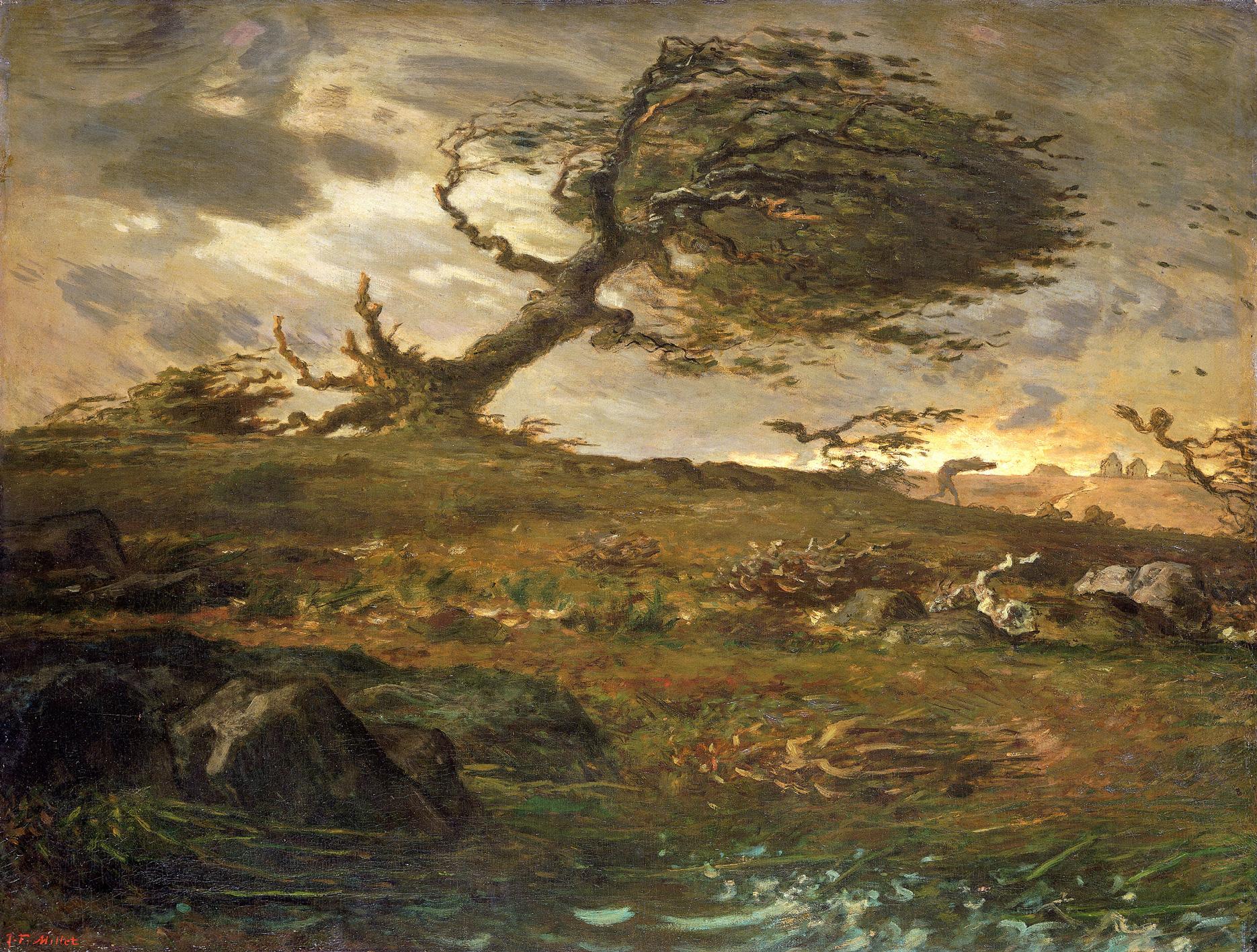 Jean-François Millet. the gust of wind. 1871-73