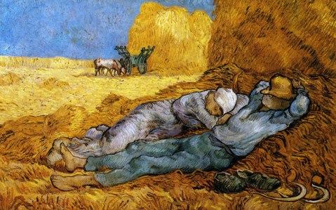 Van Gogh. A Sesta.  1890