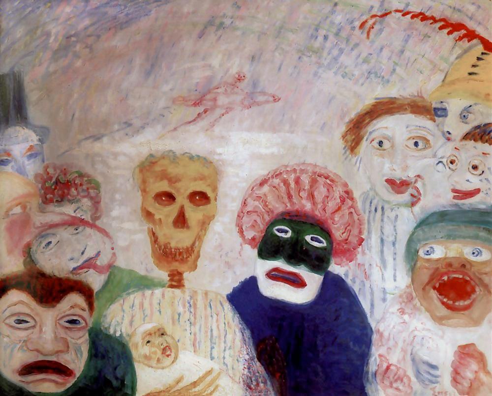 Fig 4. James Ensor. A morte a as máscaras. 1927