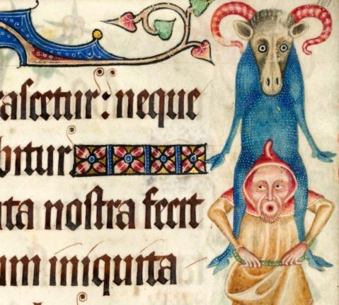 Luttrell Psalter, England ca. 1325-1340.