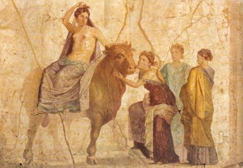 Rapto de Europa. Pompeia. Casa di Giasone.