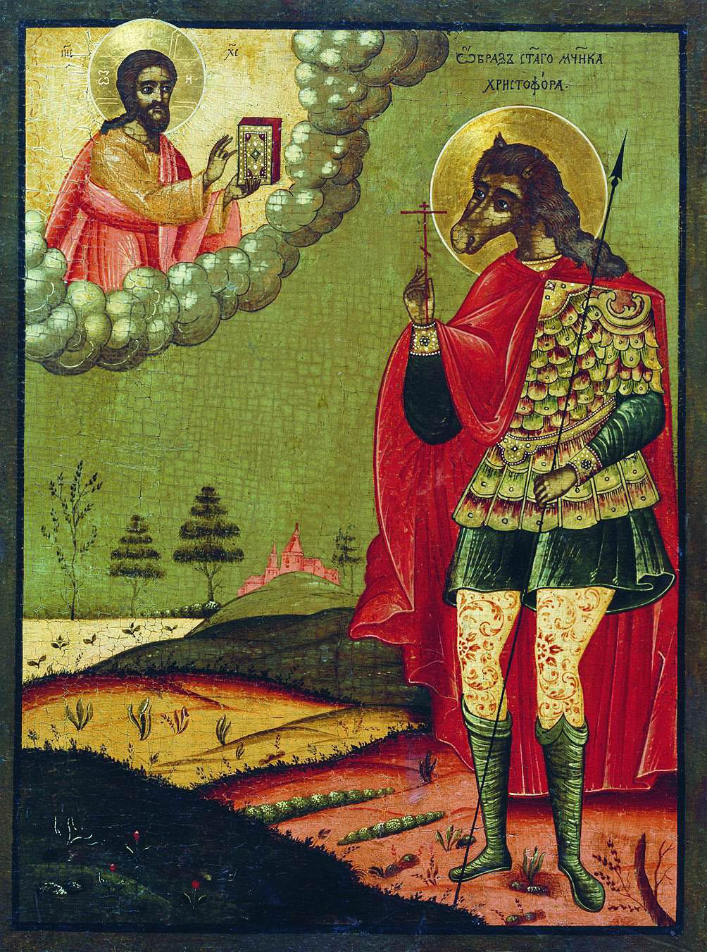 São Cristóvão. Ícone Russo. Séc. XVIII.