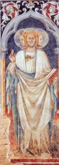 Antonio di Atri. Trinidade com três faces. Ca. 1400