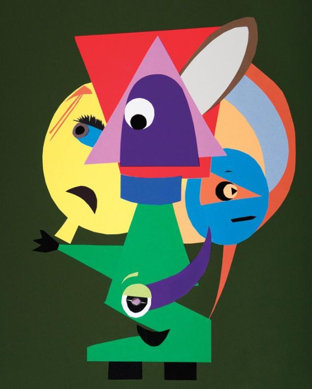 Arte por crianças com autismo. Amigos, por  Wil C. Kerner, com 12 anos de idade.