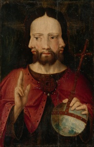 Christ with Three Faces. The Trinity.1500, Netherlandish School. Complete