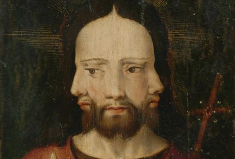 Cristo com Três Faces. A Trindade. Ca. 1500. Escola Holandesa.