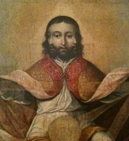 Gregorio Vásquez de Arce y Ceballos. Símbolo de la Trinidad. Museo Colonial de Bogotá. Ca. 1685.