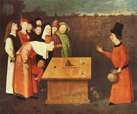 Hieronymus Bosch. The Conjurer. 1596-1520