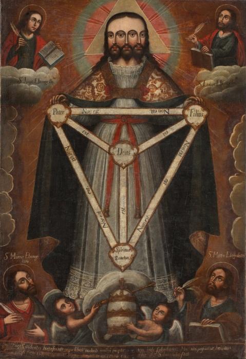 Trindade Trifacial. 1750-1770. Museo de  Arte de Lima